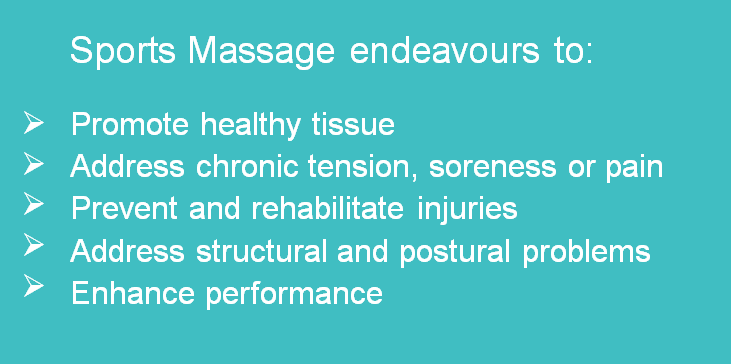 Sports Massage endeavours to: